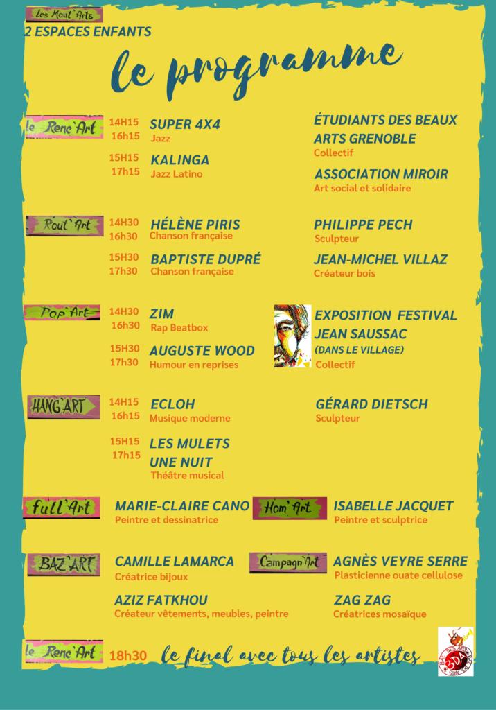 Programme du festival de Sillans